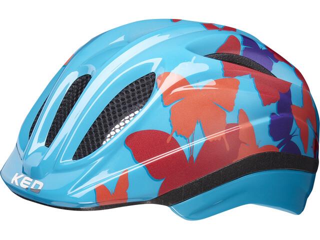 KED Meggy II Trend Casco Niños, butterfly/blue